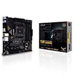 ASUS TUF Gaming B450M-PRO S, Placa Base Gaming Micro ATX AMD B450 (AM4), Doble M.2, 10 etapas de Potencia DrMOS, 2,5 GB LAN, HDMI, DP, AI Mic, USB 3.2 Gen 2 Type-A y Type-C, Aura Sync RGB