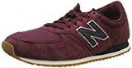 New Balance Hombre U420 Sneaker, Vino tinto , 38.5 EU