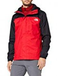 The North Face M Quest Triclimate Chaqueta, Hombre, Rojo/Negro, L