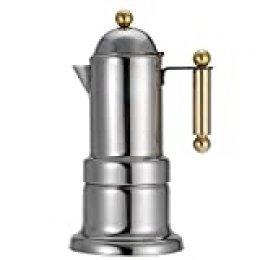 Acero Inoxidable 4 Tazas Stovetop Cafetera de Café Espresso Durable Moka Pot con Válvula de Seguridad