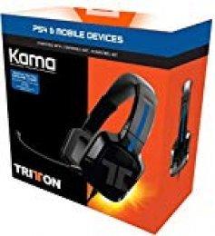 Tritton Kama - Auriculares estéreo de diadema cerrados , color negro (PS4, PS Vita)