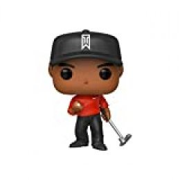 Funko- Pop Golf: Tiger Woods (Red Shirt) Collectible Figure, Multicolor, Estándar (44715)