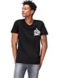 Marca Amazon - find. Camiseta con Estampado Gráfico Hombre