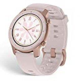 Amazfit GTR 42mm - Reloj Inteligente con frecuencia cardíaca y Seguimiento de Actividad, batería de Larga duración, Rosa