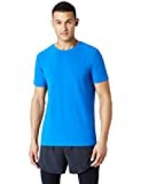 Marca Amazon - find. Camiseta Deporte Básica Hombre, Azul (Imperial Blue), L, Label: L