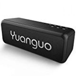 Yuanguo Bluetooth Altavoz Inalámbrico Altavoz Pórtatil Impermeable,Controladores Duales con Sonido Estéreo Audio HD 12+ Horas de Reproducción con USB y TF para Hogar Aire Libre y Viajes