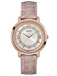 Guess Reloj Analógico para Mujer de Cuarzo con Correa en Cuero W0934L5