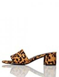 Marca Amazon - find. Block Heel Mule - Sandalias con punta abierta Mujer