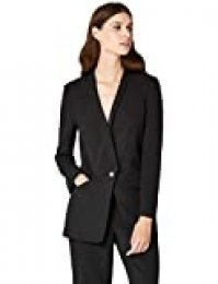 Marca Amazon - TRUTH & FABLE Chaqueta de Traje Mujer, Negro (Black), 38, Label: S