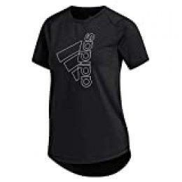 adidas Tech Bos tee Camiseta de Manga Corta, Mujer, Black/White, XS