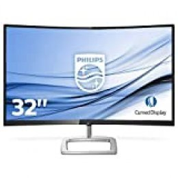 "Monitor PHILIPS 328E9QJAB Pantalla para PC Curvo DE 32"" FHD (RESOLUCIÓN 1920X1080, FRESSYNC, FLICKERFREE, LOWBLUE Mode, Altavoces, VESA, HDMI, DISPLAYPORT 1.2)"