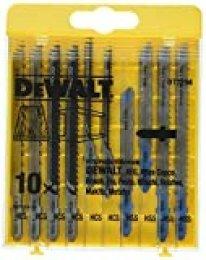 Dewalt DT2294-QZ Juego de 10 hojas de sierra calar con 5 para madera y 5 para metal