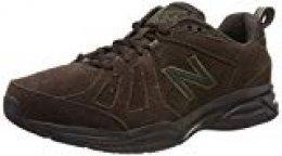 New Balance 624v5, Zapatillas Deportivas para Interior para Hombre, Marrón (Brown Brown), 44.5 EU
