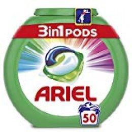 Ariel 3en1 Pods Detergente En Cápsulas, Color & Style, Limpieza Increíble, Limpia, Quita Manchas, Ilumina- 50Lavados