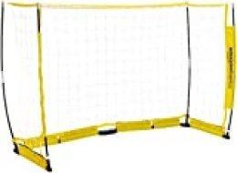 AmazonBasics – Portería de fútbol portátil fácil de montar, 1,22x2,44metros, color amarillo