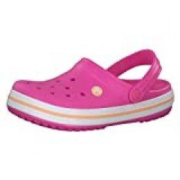 Crocs Crocband Clog K, Zuecos con Correa Trasera Unisex-Bambini, Rosa (Electric Pink/Cantaloupe 6qz), 34/35 EU