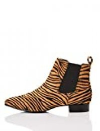 find. Simple Botas Chelsea, Marrón Tiger, 38 EU