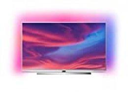 Philips Ambilight 65PUS7354 - Televisor Smart TV 4K UHD, 65 pulgadas, HDR10+, Android TV, Google Assistant y compatible Alexa, Dolby Vision/Atmos, peana central aluminio giratoria, color gris