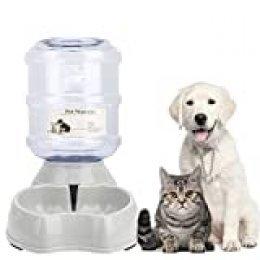 Old Tjikko Mascotas Automática dispensador de Agua, automático 901100–Fuente, Mascotas Botella Animales Accesorios para Perros Gatos, 3.8litros, PBA Libre