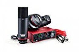Focusrite Scarlett Solo Studio 3rd Gen, Interfaz de Audio, Micrófono de Condensador y Auriculares, USB