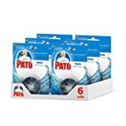 Pato - Matic limpiador y ambientador para inodoro, pastilla para cisterna, 1 Pack of 6 unidades