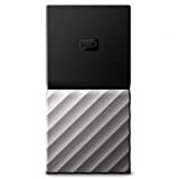 WD My Passport SSD, Almacenamiento portátil de 256GB, Color Negro compatible con PC, Xbox One y PS4