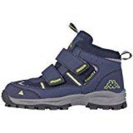 Kappa ACTION TEX T Footwear Teens - Botas unisex para niños, color azul (6733 navy/lime), talla 38