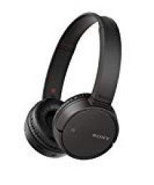 Sony WHCH500 Auriculares inalámbricos de diadema (Bluetooth, NFC, duración de batería de hasta 20 h, diafragma de 30 mm, manos libres), Negro