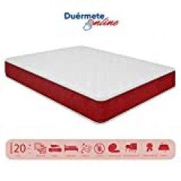 Duérmete Online Duérmete viscoelástico Lite Reversible (colchón a 2 Caras), Muy Transpirable, Blanco, 90 x 190