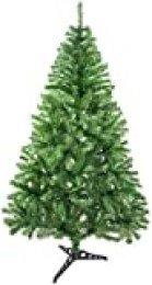 TIENDA EURASIA® Árbol de Navidad - Árboles de Navidad Artificiales - Soporte de Pie Metálico - Medidas 90-210 cm - Colores Verde y Blanco - Fácil Montaje Verde, 90CM (PIE DE PLÁSTICO)