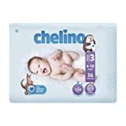 Chelino Fashion & Love - Pañales, Talla 3, 4-10 kilos, 36 unidades