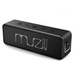 Altavoz Portátil Bluetooth, Muzili Altavoz Bluetooth Inalámbrico Impermeable IPX7 Sonido Hi-Fi Estéreo Barra de Sonido Audio HD, Más de 24H de Reproducción, Llamada Manos Libres con TF Tarjeta