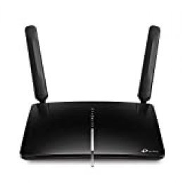 TP-Link Archer MR600 Router 4G + LTE CAT6, WiFi AC1200 5G & 2.4GHz, 2 Detachable Antennas with Strong Signal, MicroSIM, Compatible con Todos los operadores, Límite del Consumo del Dato