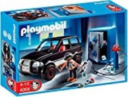Playmobil- Thief with Safe and Getaway Car Ladrón de Caja Fuerte con Coche, (626564)