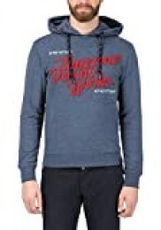 Timezone Felt Application Hoodie Capucha para Hombre