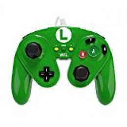 PDP - Mando Fight Pad Con Cable Luigi (Nintendo Wii U)