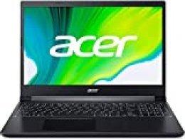 "Acer Aspire 7 -Portátil 15.6"" FullHD (AMD Ryzen 5 3550H, 8GB RAM, 512GB SSD, NVIDIA GeForce GTX 1650, Sin Sistema Operativo), Color Negro -Teclado Qwerty Español"