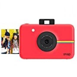 Polaroid Snap - Cámara digital instantánea, tecnología de impresión Zink Zero Ink, 10 Mp, Bluetooth, micro SD, fotos de 5 x 7.6 cm, rojo