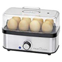 Proficook PC-EK 1139 cuecehuevos 8 Huevos 400 W Negro, Acero Inoxidable - Utensilio para Huevos (225 mm, 130 mm, 185 mm, 710 g, 220-240 V, 50-60 Hz)