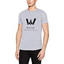 I-D-C Justice League Movie-Wayne Aerospace Camiseta para Hombre
