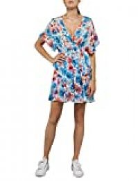 REPLAY W9606 .000.72096 Vestido, Multicolor (Multicolor 010), X-Small para Mujer