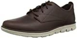 Timberland Bradstreet Plain Toe Sensorflex, Zapatos de Cordones Oxford para Hombre, Marrón Dark Brown Full Grain, 43 EU