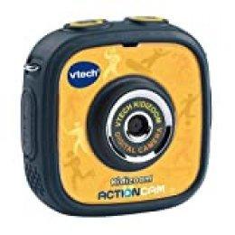 VTech - Kidizoom ActionCam Cámara de Fotos y vídeo para niños, Color Negro/Amarillo, versión Alemana