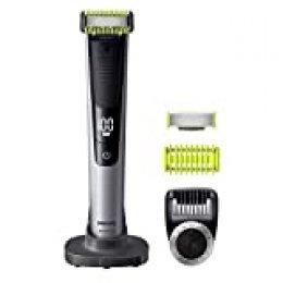 Philips QP6620/30 OneBlade Pro Cara y Cuerpo - Recortador de Barba Recargable con Peine-Guía para el Cuerpo, Peine de Precisión de 14 Longitudes, Base de Carga y Funda de Viaje