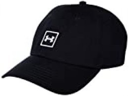 Under Armour Washed Cotton Gorra, Hombre, Negro, OSFA