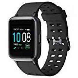 【2019 Más Nuevo】GRDE Reloj Inteligente, Bluetooth V5.0 Smartwatch Deportivo Impermeable 5ATM con Pantalla Completa Táctil Monitor de Ritmo Cardíaco y Sueño Notificación de Mensaje Fitness Tracker