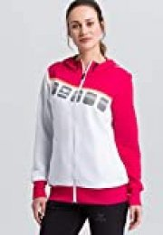Erima GmbH 1031919 Chaqueta, Mujer, Blanco/Love Rose/Peach, 36