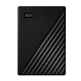 WD 5 TB My Passport disco duro portátil con protección con contraseña y software de copia de seguridad automática, Compatible con PC, Xbox y PS4, color Negro