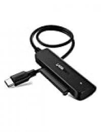 """UGREEN Cable SATA a USB C, Adaptador SATA III a USB Tipo C con UASP para 2,5"""" Discos Duros HDD SDD, Soporta S.M.A.R.T, Trim, Compatible con PC, TV, Macbook, DELL XPS 15, 10TB MAX, 0,5M de Longitud"""