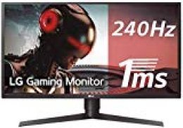 "LG 27GK750F-B - Monitor Gaming FHD de 68,6 cm (27"") con Panel TN (1920 x 1080 píxeles, 16:9, 1 ms con MBR, 240Hz, FreeSync, 400 cd/m², 1000:1, NTSC >72%, DP x1, HDMI x2, USB-A 3.0 x3) color negro"